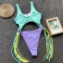 One - Piece Swimsuit With Tassels