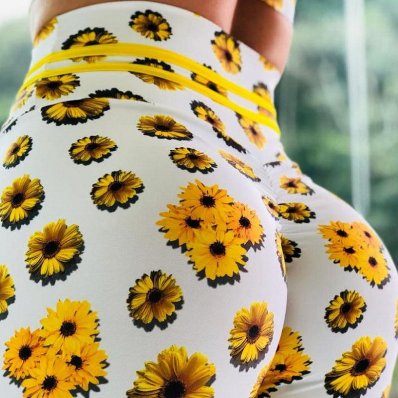 Chrysanthemum 3D Printed Leggings