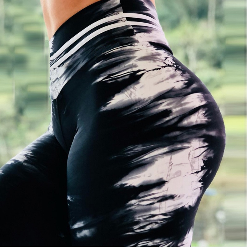 Black-White Smoke Leggings