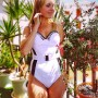 One Piece Swimwear With Belt