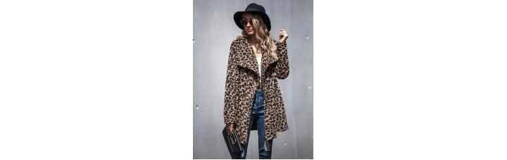 Elegant  Leopard Coat Warm Cardigan